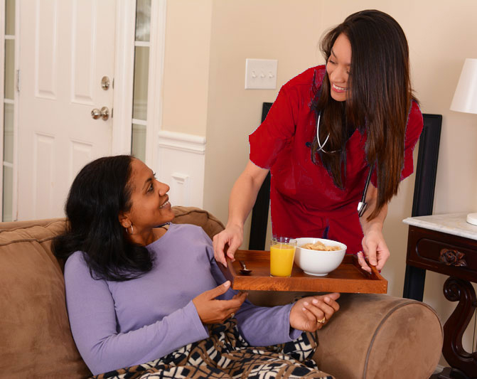 A caregiver can prepare meals, complete light house-keeping and offer friendly companionship.